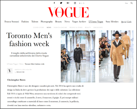 About Vogue Article