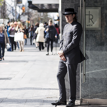 Christopher Bates Holt Renfrew Door Uniform