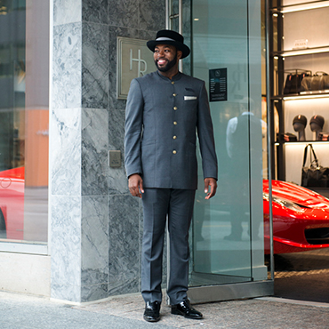 Christopher Bates Holt Renfrew Staff concierge uniforms