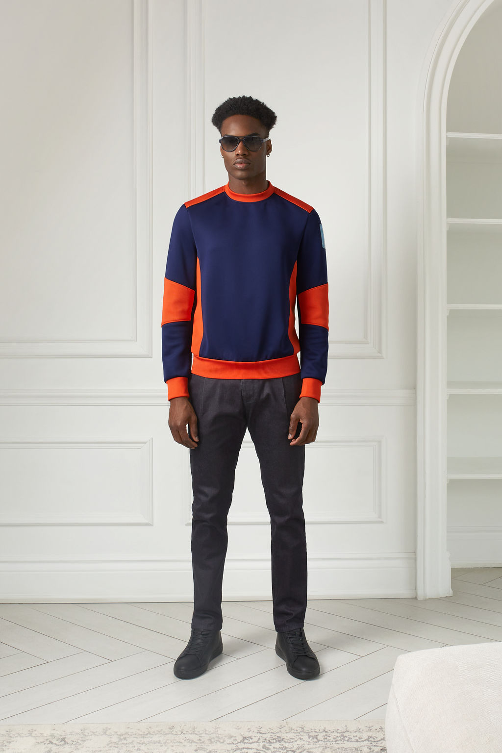 Male Modal with Sweater By Christopher Bates